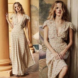 DOEN Adra Dress Papillon Floral Silk Maxi